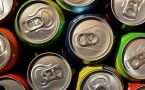 The tops of several soda cans clustered together