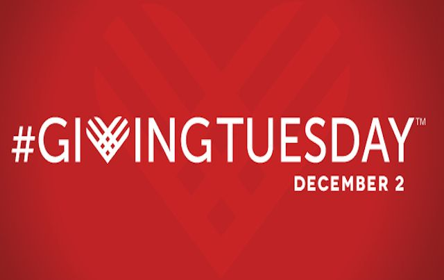 Giving Tuesday logo on red background
