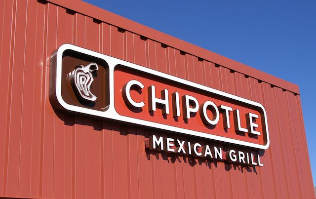 chipotle restaurant sign and logo