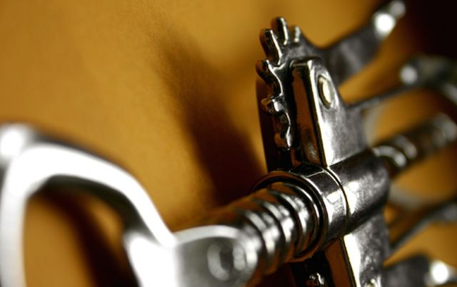 close up of rotary cork screw