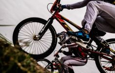close up wheels of BMX mountain bikes