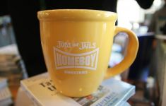 coffee mug with Homeboy Industries logo