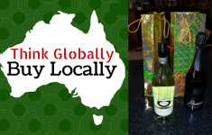 graphic with Australia map and Australian wines