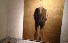 "painting ""Marginalized"" of featureless man"