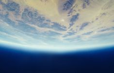 curvature of Earth and ozone from space