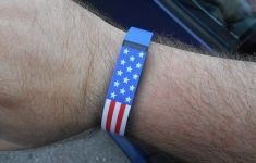 stars and stripes patterned fitness tracker FitBit