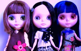 mean looking big eyed dolls
