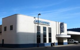 exterior of Greyhound bus terminal