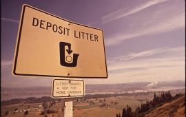 highway deposit litter sign