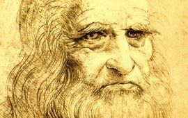 close up Da Vinci self portrait