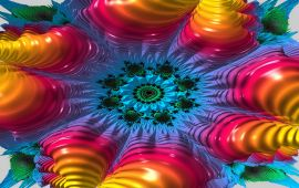 rainbow colored fractal