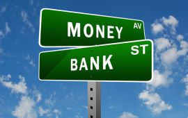 graphic of street signs reading Money and Bank